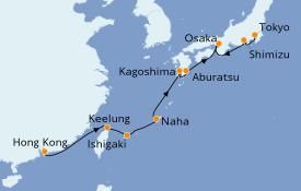 Itinerario de crucero Asia 13 días a bordo del Seven Seas Voyager