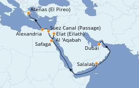 Itinerario de crucero Mar Rojo 18 días a bordo del Azamara Quest