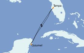 Itinerario de crucero Caribe del Oeste 5 días a bordo del Serenade of the Seas