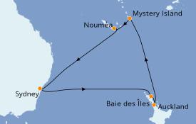 Itinerario de crucero Australia 2020 12 días a bordo del Ovation of the Seas