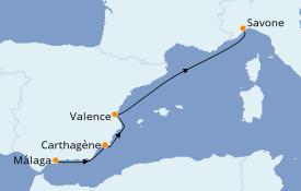 Itinerario de crucero Mediterráneo 5 días a bordo del Costa Favolosa