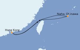 Itinerario de crucero Asia 6 días a bordo del Norwegian Jade