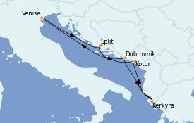 Itinerario de crucero Grecia y Adriático 7 días a bordo del Celebrity Infinity