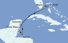 Itinerario de crucero Caribe del Oeste 8 días a bordo del Oasis of the Seas