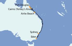 Itinerario de crucero Australia 2023 11 días a bordo del Celebrity Eclipse