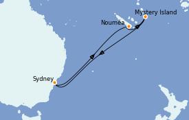 Itinerario de crucero Australia 2021 8 días a bordo del Serenade of the Seas