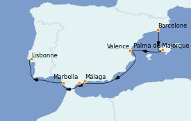 Itinerario de crucero Mediterráneo 9 días a bordo del Le Champlain