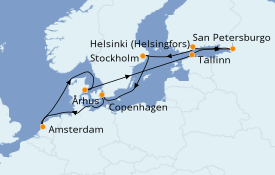 Itinerario de crucero Mar Báltico 13 días a bordo del Brilliance of the Seas