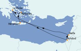 Itinerario de crucero Grecia y Adriático 8 días a bordo del Celebrity Apex