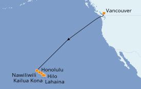 Itinerario de crucero Hawaii 12 días a bordo del Serenade of the Seas