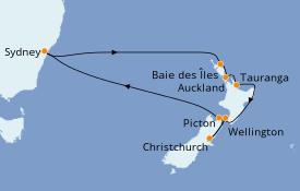Itinerario de crucero Australia 2022 13 días a bordo del Ovation of the Seas