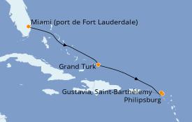 Itinerario de crucero Caribe del Este 6 días a bordo del Silver Shadow