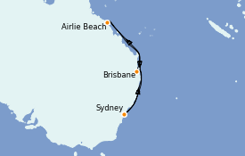 Itinerario de crucero Australia 2021 8 días a bordo del Ovation of the Seas