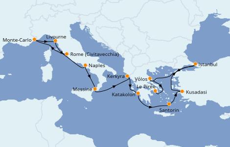 Itinerario del crucero Grecia y Adriático 11 días a bordo del Norwegian Star