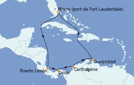 Itinerario de crucero Caribe del Este 12 días a bordo del Vision of the Seas