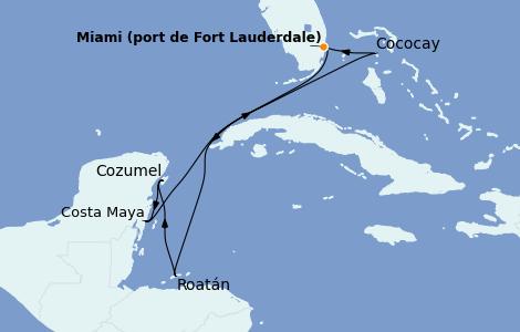 Itinerario del crucero Caribe del Oeste 7 días a bordo del Wonder of the Seas