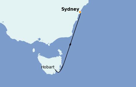 Itinerario del crucero Australia 2022 4 días a bordo del Sapphire Princess