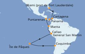 Itinerario de crucero Caribe del Este 26 días a bordo del Island Princess