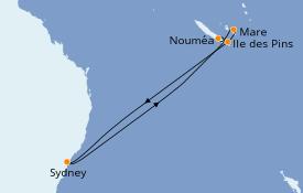 Itinerario de crucero Australia 2020 9 días a bordo del Carnival Splendor