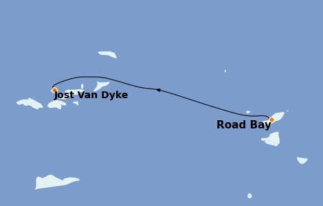 Itinerario del crucero Caribe del Este 7 días a bordo del Star Flyer