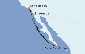 Itinerario de crucero Riviera Mexicana 7 días a bordo del Carnival Panorama