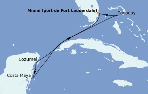 Itinerario del crucero Caribe del Oeste 6 días a bordo del Allure of the Seas