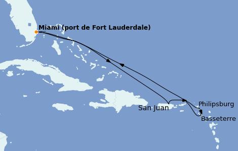Itinerario del crucero Caribe del Este 7 días a bordo del Allure of the Seas