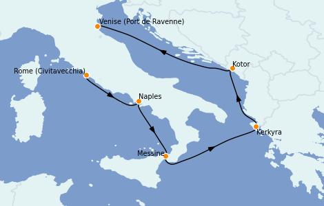 Itinerario del crucero Mediterráneo 6 días a bordo del Brilliance of the Seas