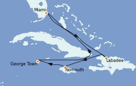 Itinerario de crucero Caribe del Oeste 7 días a bordo del Independence of the Seas
