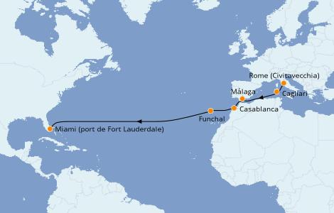 Itinerario del crucero Mediterráneo 14 días a bordo del Island Princess