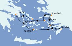 Itinerario de crucero Grecia y Adriático 8 días a bordo del Azamara Quest