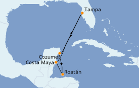 Itinerario de crucero Caribe del Oeste 7 días a bordo del Rhapsody of the Seas