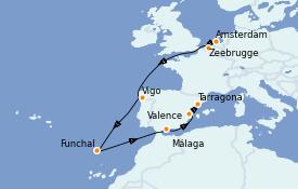 Itinerario de crucero Mediterráneo 11 días a bordo del Jewel of the Seas