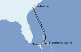 Itinerario de crucero Bahamas 6 días a bordo del Carnival Sunshine