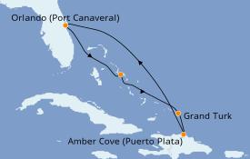 Itinerario de crucero Caribe del Este 7 días a bordo del Carnival Radiance