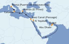 Itinerario de crucero Mar Rojo 16 días a bordo del Celebrity Constellation