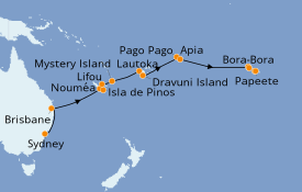 Itinerario de crucero Australia 2020 22 días a bordo del Norwegian Jewel
