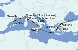 Itinerario de crucero Mediterráneo 13 días a bordo del MS Nautica