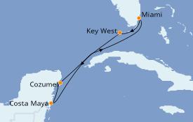 Itinerario de crucero Caribe del Oeste 7 días a bordo del Empress of the Seas
