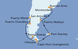 Itinerario de crucero Norteamérica 15 días a bordo del Norwegian Star