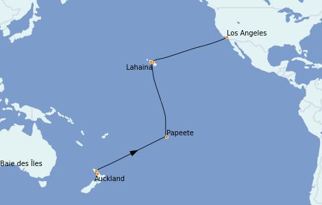 Itinerario del crucero Australia 2023 21 días a bordo del Majestic Princess