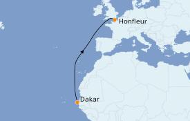 Itinerario de crucero África 9 días a bordo del Le Jacques Cartier