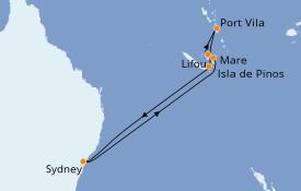 Itinerario de crucero Australia 2020 10 días a bordo del Voyager of the Seas