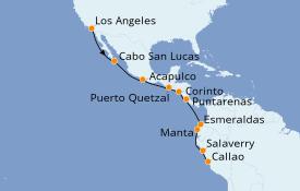 Itinerario de crucero Riviera Mexicana 17 días a bordo del Seven Seas Mariner