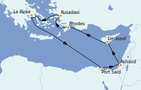 Itinerario de crucero Grecia y Adriático 8 días a bordo del Celestyal Experience