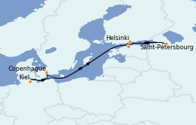 Itinerario de crucero Mar Báltico 8 días a bordo del MSC Grandiosa