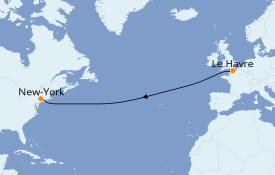 Itinerario de crucero Canadá 8 días a bordo del Queen Mary 2