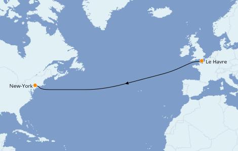 Itinerario del crucero Canadá 7 días a bordo del Queen Mary 2