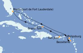 Itinerario de crucero Caribe del Este 9 días a bordo del Regal Princess