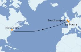 Itinerario de crucero Islas Británicas 9 días a bordo del Queen Mary 2